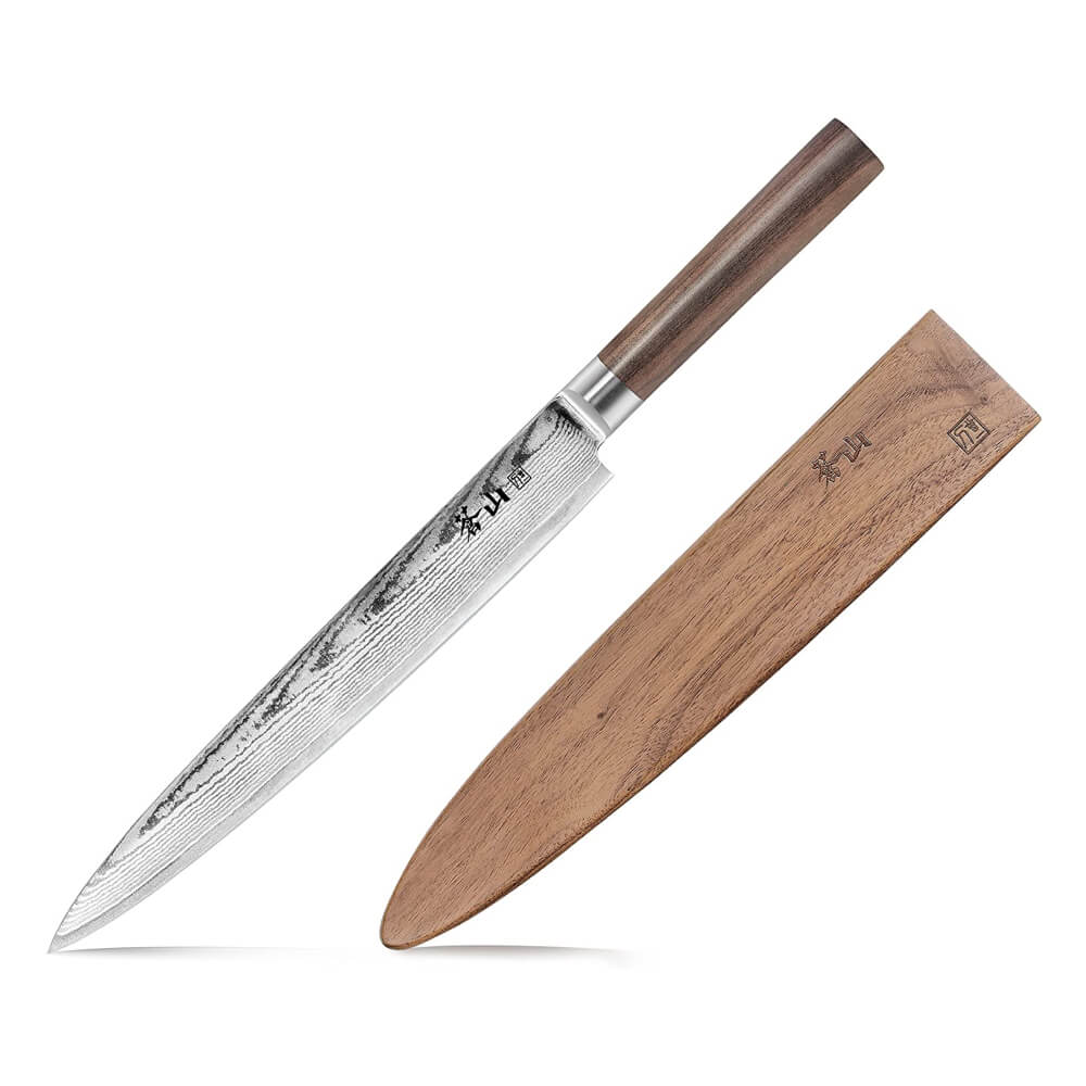 Cangshan J Series 62786 Japan VG-10 Steel Sashimi Chef Knife With Walnut Sheath, 10-Inch